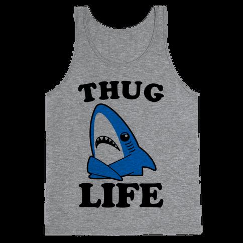 Thug Life Left Shark Tank Top