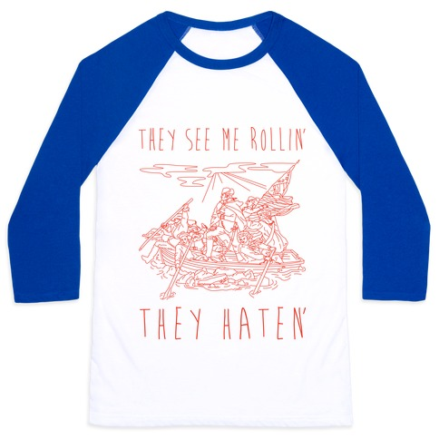 They See Me Rollin Washington Baseball Tee