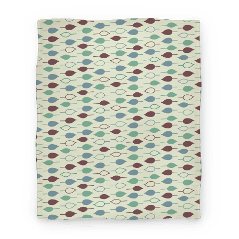 Leaf Pattern Blanket (Green) Blanket