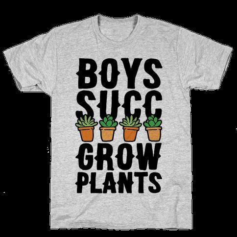 Boys Succ Grow Plants Mens T-Shirt