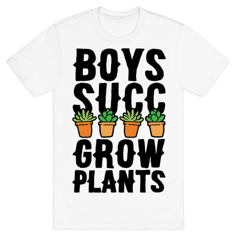Boys Succ Grow Plants Mens T-Shirt