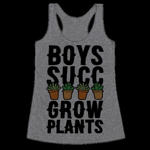 Boys Succ Grow Plants Racerback Tank Top