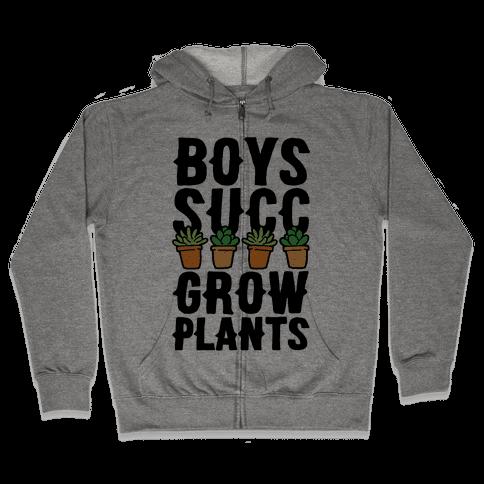 Boys Succ Grow Plants Zip Hoodie