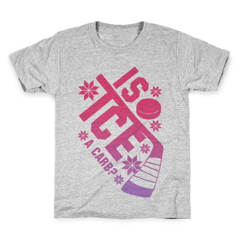 Is Ice A Carb? (Pink) Kids T-Shirt