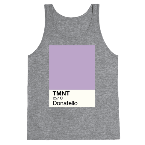 Donatello Color Swatch Parody Tank Top