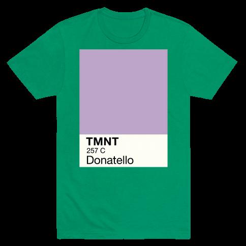 Donatello Color Swatch Parody Mens T-Shirt
