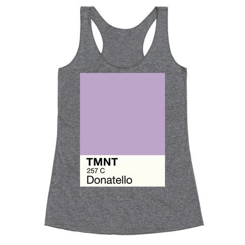 Donatello Color Swatch Parody Racerback Tank Top