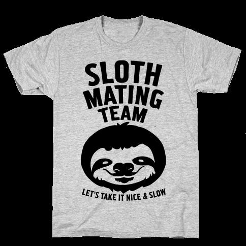 Sloth Mating Team Mens T-Shirt