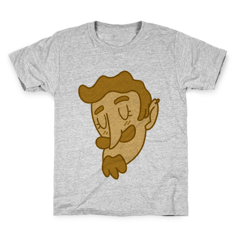 Cute Scruffy Dude (Yellow) Kids T-Shirt