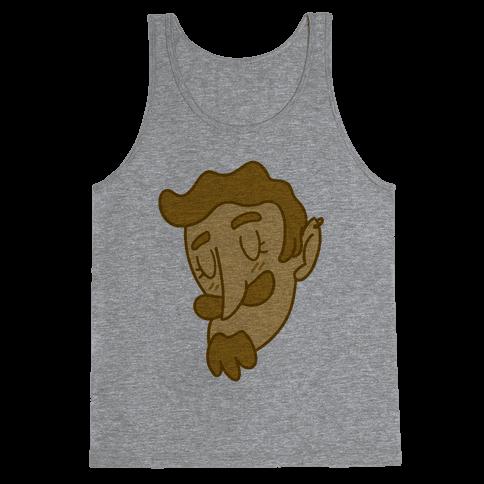 Cute Scruffy Dude (Yellow) Tank Top