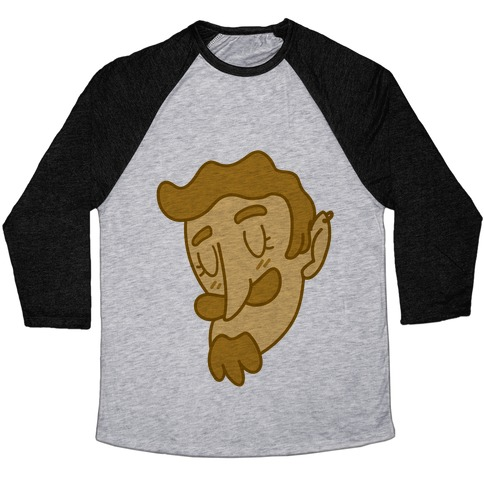Cute Scruffy Dude (Yellow) Baseball Tee