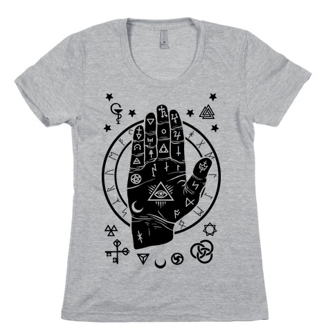 Occult Hand Womens T-Shirt