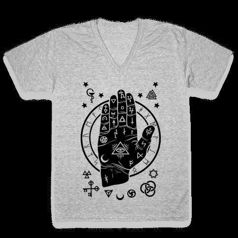 Occult Hand V-Neck Tee Shirt
