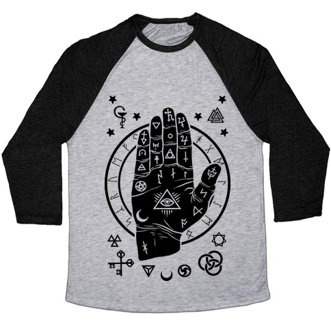 Occult Hand Baseball Tee