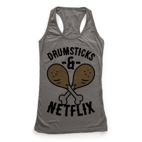 Drumsticks And Netflix Racerback Tank Top