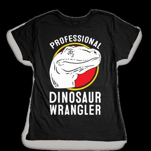 professional dinosaur wrangler t shirt human