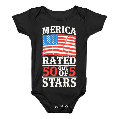 Merica: Rated 50 Out of 5 Stars Baby Onesy