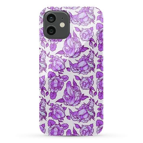 Floral Penis Pattern Purple Phone Case