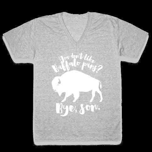 Buffalo Puns V-Neck Tee Shirt