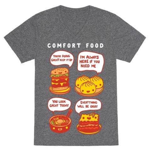 Comfort Food V-Neck Tee Shirt