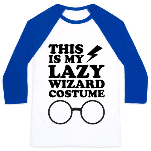 This is My Lazy Wizard Costume Baseball Tee