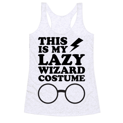 This is My Lazy Wizard Costume Racerback Tank Top