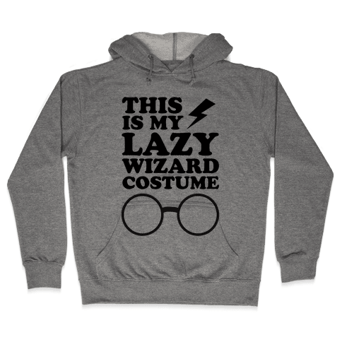 This is My Lazy Wizard Costume Hooded Sweatshirt