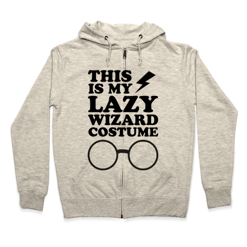This is My Lazy Wizard Costume Zip Hoodie