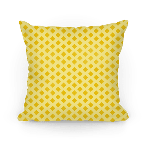 Yellow Diamond Pattern Pillow