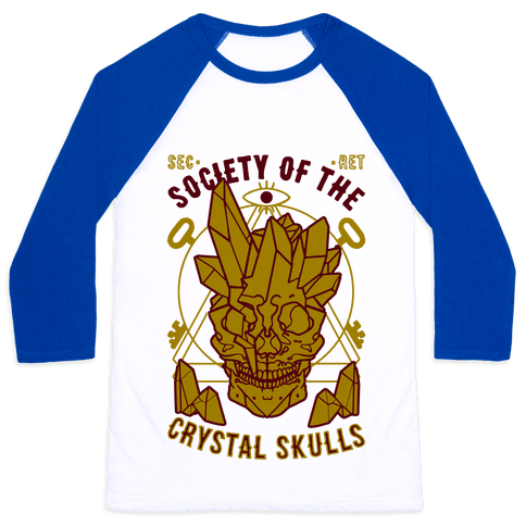 Society Of The Crystal Skulls Baseball Tee