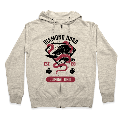 Diamond Dogs Combat Unit Zip Hoodie