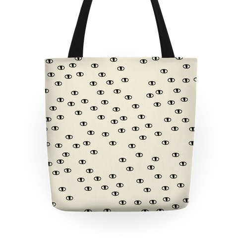 Cat Eye Pattern Pillow Tote