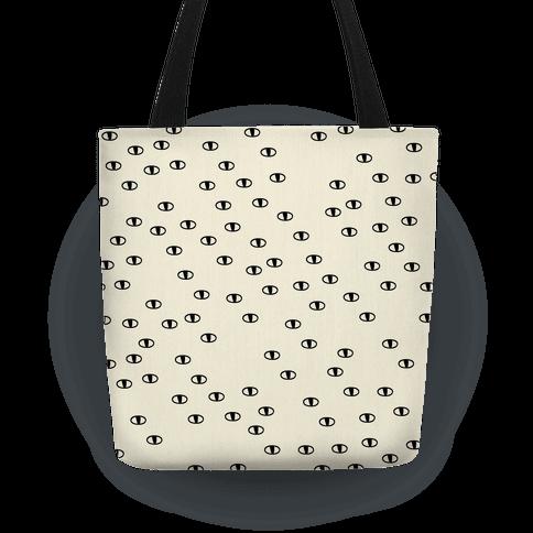 Cat Eye Pattern Pillow Tote Bag Lookhuman