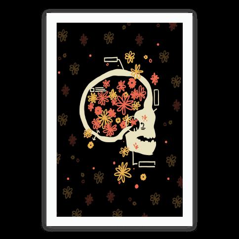 Terminal Daydream Flower Skull Poster