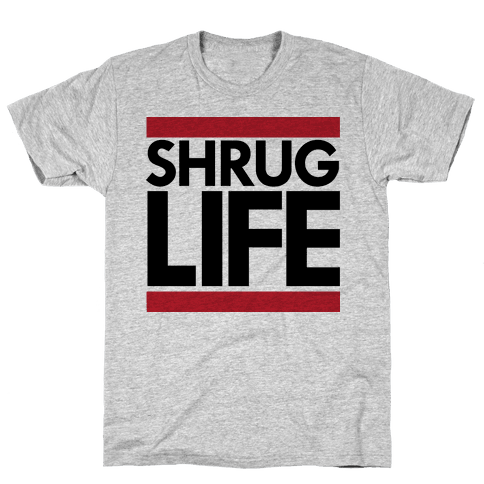Shrug Life (Tank) Mens T-Shirt