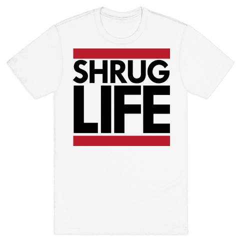 Shrug Life (Tank) Mens T-Shirt