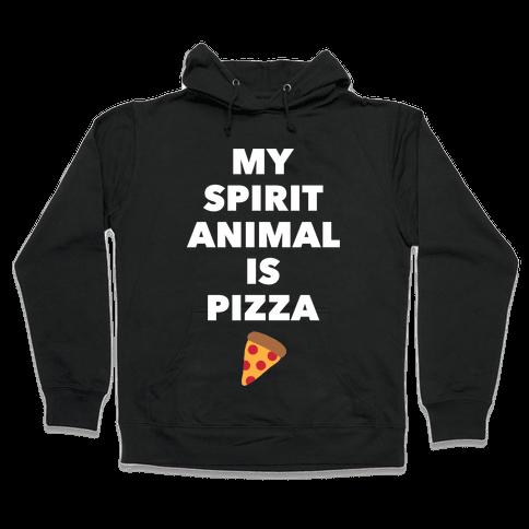 Pizza Spirit Animal Hooded Sweatshirt