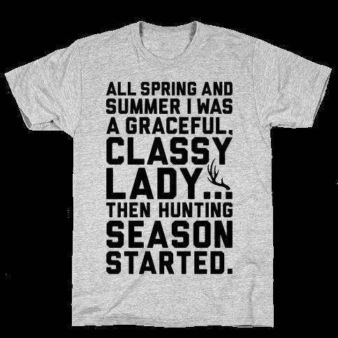 Then Hunting Season Started Mens T-Shirt