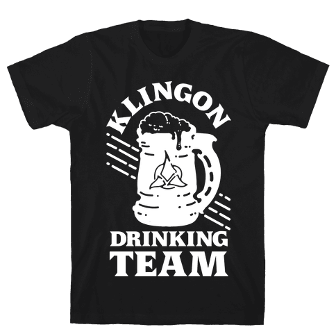 Klingon Drinking Team Mens T-Shirt