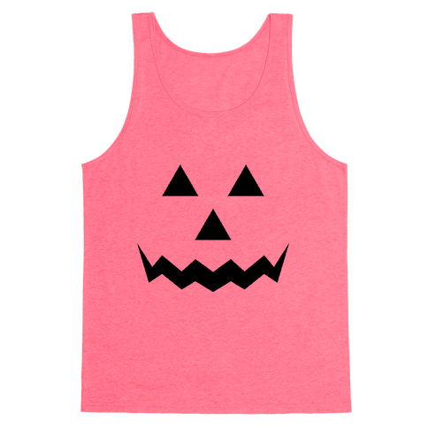 Pumpkin Face Costume Tank Top