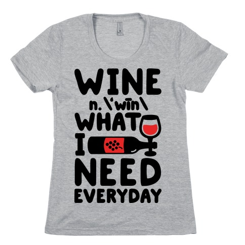 Wine Definition Womens T-Shirt
