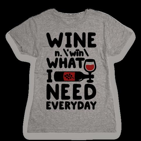 Wine Definition Womens T-Shirt