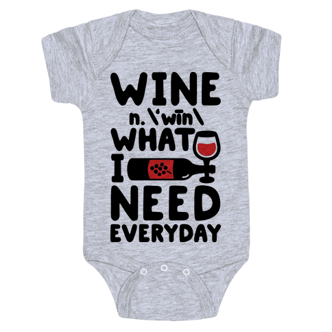 Wine Definition Baby Onesy