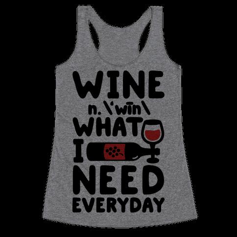 Wine Definition Racerback Tank Top