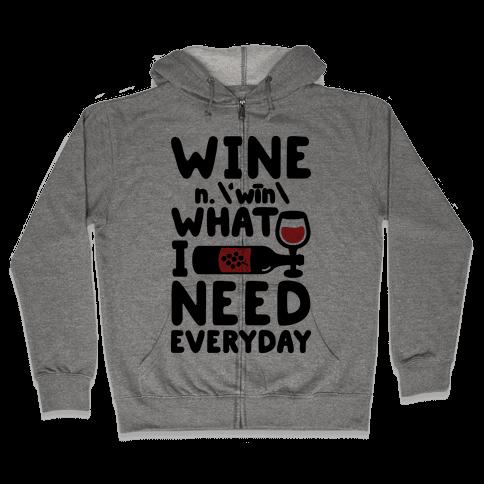 Wine Definition Zip Hoodie