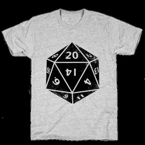D20 Die Mens T-Shirt
