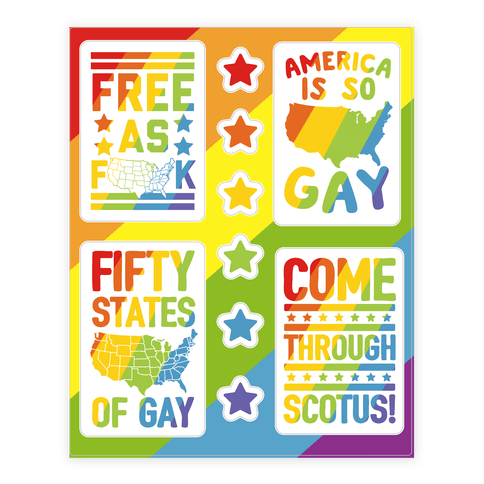 Gay Marriage Equality  Sticker/Decal Sheet
