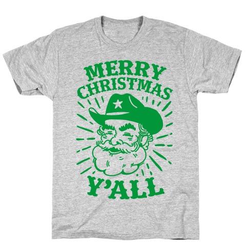 Merry Christmas Y'all Santa Claus T-Shirt