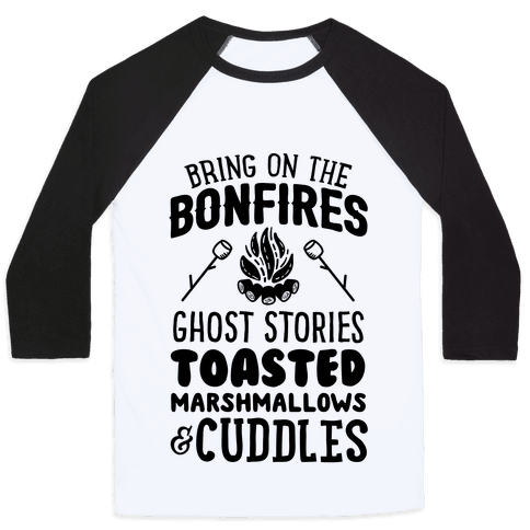 Bring On The Bonfires Baseball Tee