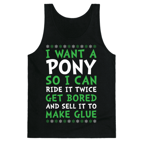 Grinch Pony Tank Top